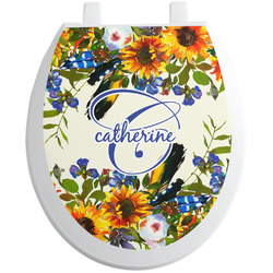 Sunflowers Toilet Seat Decal (Personalized)
