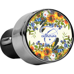Sunflowers USB Car Charger (Personalized)