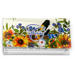 Sunflowers Vinyl Checkbook Cover (Personalized)