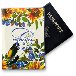 Sunflowers Vinyl Passport Holder (Personalized)