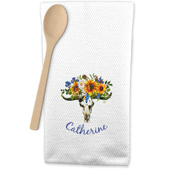 Sunflowers Waffle Weave Kitchen Towel (Personalized)