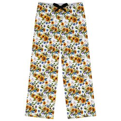Sunflowers Womens Pajama Pants (Personalized)