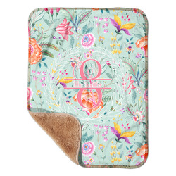 """Exquisite Chintz Sherpa Baby Blanket 30"""" x 40"""" (Personalized)"""
