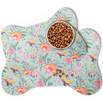 Exquisite Chintz Bone Shaped Dog Food Mat (Personalized)