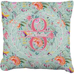 Exquisite Chintz Faux-Linen Throw Pillow (Personalized)