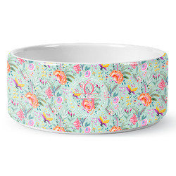 Exquisite Chintz Ceramic Dog Bowl (Personalized)