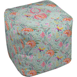 Exquisite Chintz Cube Pouf Ottoman (Personalized)
