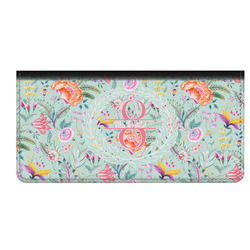 Exquisite Chintz Genuine Leather Checkbook Cover (Personalized)