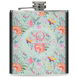 Exquisite Chintz Genuine Leather Flask (Personalized)