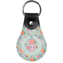 Exquisite Chintz Genuine Leather  Keychains (Personalized)