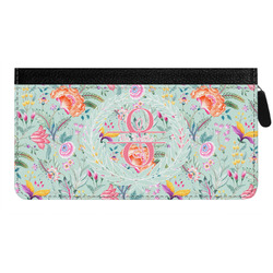 Exquisite Chintz Genuine Leather Ladies Zippered Wallet (Personalized)