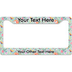 Exquisite Chintz License Plate Frame - Style B (Personalized)
