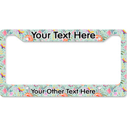Exquisite Chintz License Plate Frame (Personalized)