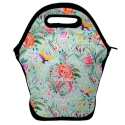 Exquisite Chintz Lunch Bag w/ Name and Initial