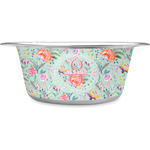 Exquisite Chintz Stainless Steel Dog Bowl (Personalized)
