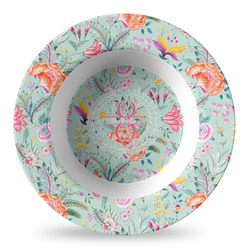 Exquisite Chintz Plastic Bowl - Microwave Safe - Composite Polymer (Personalized)