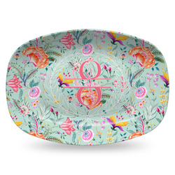 Exquisite Chintz Plastic Platter - Microwave & Oven Safe Composite Polymer (Personalized)