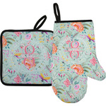 Exquisite Chintz Oven Mitt & Pot Holder (Personalized)