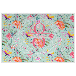 Exquisite Chintz Laminated Placemat w/ Name and Initial