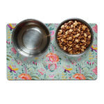 Exquisite Chintz Dog Food Mat (Personalized)