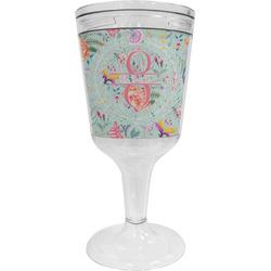 Exquisite Chintz Wine Tumbler - 11 oz Plastic (Personalized)