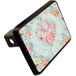"""Exquisite Chintz Rectangular Trailer Hitch Cover - 2"""" (Personalized)"""