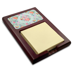 Exquisite Chintz Red Mahogany Sticky Note Holder (Personalized)