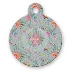 Exquisite Chintz Round Pet Tag (Personalized)