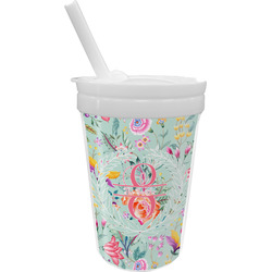 Exquisite Chintz Sippy Cup with Straw (Personalized)