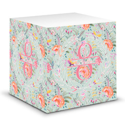 Exquisite Chintz Sticky Note Cube (Personalized)