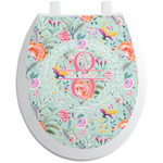 Exquisite Chintz Toilet Seat Decal (Personalized)