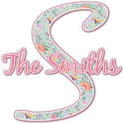 Exquisite Chintz Name & Initial Decal - Custom Sized (Personalized)