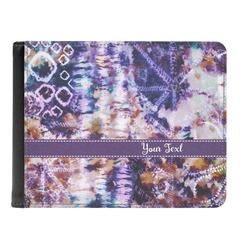Tie Dye Genuine Leather Men's Bi-fold Wallet (Personalized)