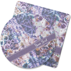 Tie Dye Rubber Backed Coaster (Personalized)