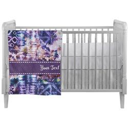 Tie Dye Crib Comforter / Quilt (Personalized)