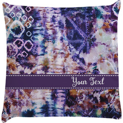 Tie Dye Decorative Pillow Case (Personalized)