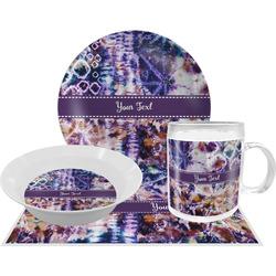 Tie Dye Dinner Set - 4 Pc (Personalized)