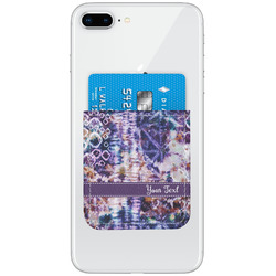Tie Dye Genuine Leather Adhesive Phone Wallet (Personalized)