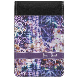 Tie Dye Genuine Leather Small Memo Pad (Personalized)