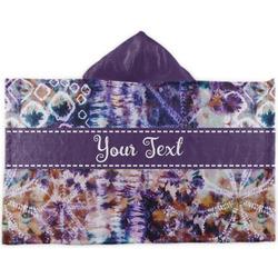 Tie Dye Kids Hooded Towel (Personalized)