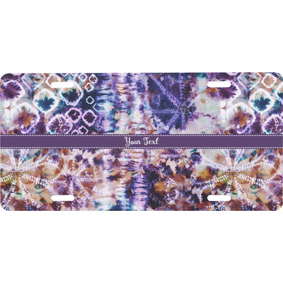 Tie Dye Front License Plate (Personalized)