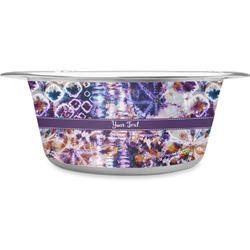 Tie Dye Stainless Steel Dog Bowl (Personalized)