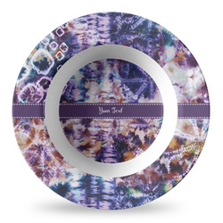 Tie Dye Plastic Bowl - Microwave Safe - Composite Polymer (Personalized)