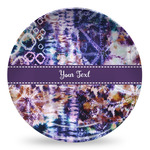 Tie Dye Microwave Safe Plastic Plate - Composite Polymer (Personalized)