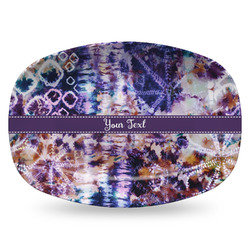 Tie Dye Plastic Platter - Microwave & Oven Safe Composite Polymer (Personalized)