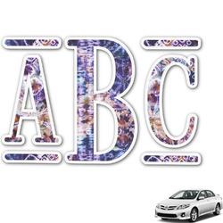 Tie Dye Monogram Car Decal (Personalized)