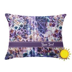 Tie Dye Outdoor Throw Pillow (Rectangular) (Personalized)