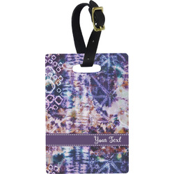 Tie Dye Rectangular Luggage Tag (Personalized)