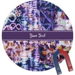 Tie Dye Round Fridge Magnet (Personalized)