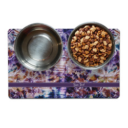 Tie Dye Dog Food Mat (Personalized)